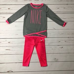 Nike Girls Set Shirt and Leggings